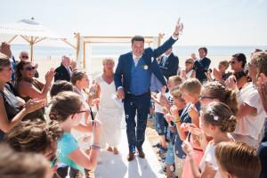 Arjaane & Stanley getrouwd bij Beachclub Verso, Rockanje