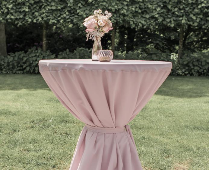 Kleed Voor Statafel.Blush Roze Statafelrokken White Weddings