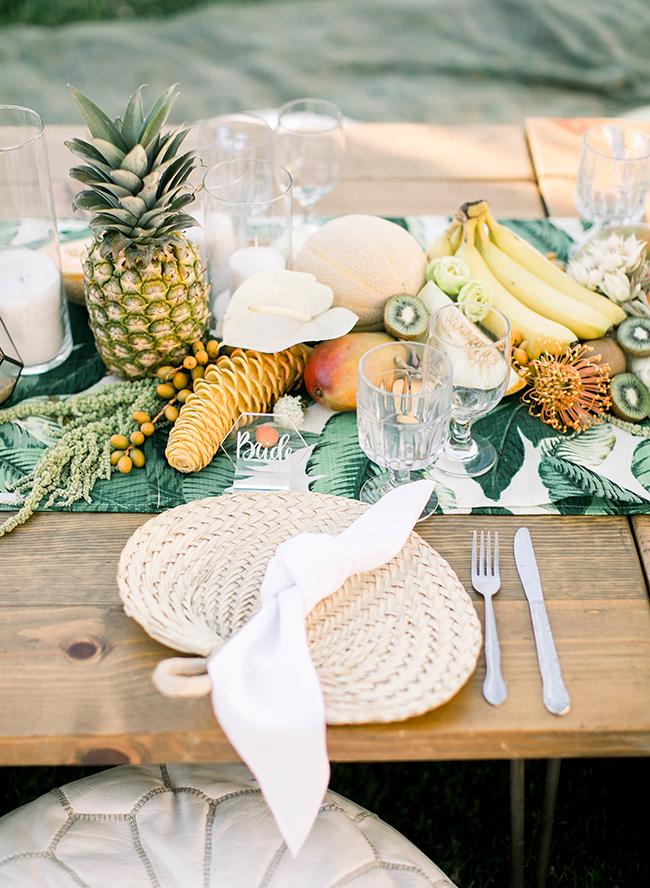 fruit als tafel decoratie